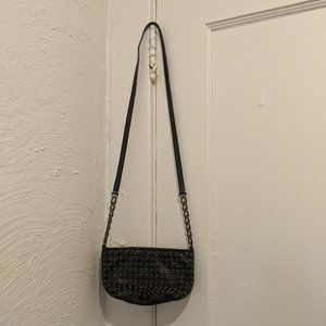 Michael by Michael Kors Black Leather Grommet Bag